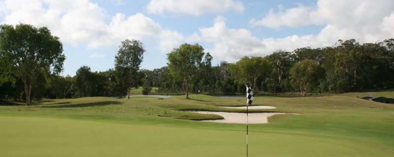 Golf course in immaculate condition